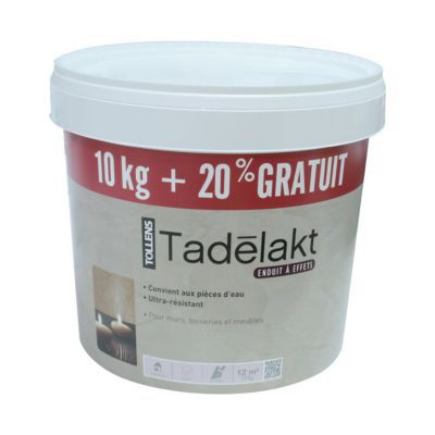 Enduit décoratif à teinter RMD DECORATION Tadelakt 10kg +20% | Castorama