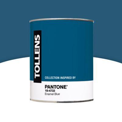 Peinture Murs Et Boiseries Tollens Pantone 18 4733 Enamel Blue Satin 1l Castorama