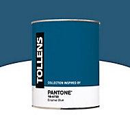 Peinture murs et boiseries Tollens Pantone 18-4733 enamel blue satin 1L