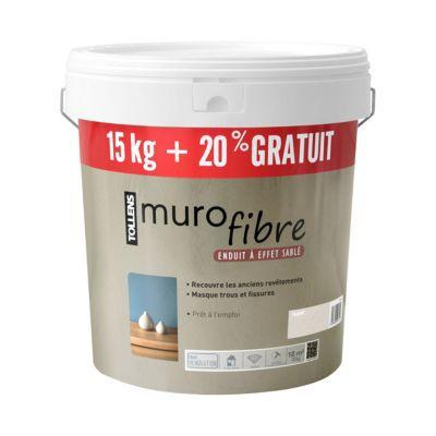 enduit d coratif tollens murofibre galet sabl 15kg 20. Black Bedroom Furniture Sets. Home Design Ideas