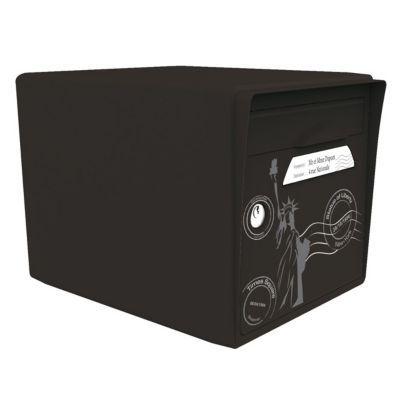 boite aux lettres 1 porte noir intense new york new york. Black Bedroom Furniture Sets. Home Design Ideas