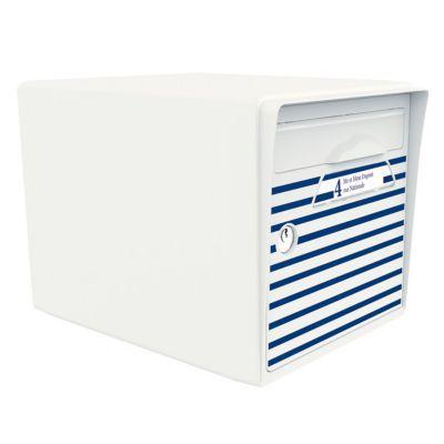 Boite aux lettres 1 porte Blanc ivoire - Bord de mer. St Malo, Le Touquet, Deauville... Apportez l' - esprit marin - à votre porte grâce à cette - boite aux lettres SIGNEE - Unique en son genre, vous ferez la différence dans votre quartier et pourrez chan