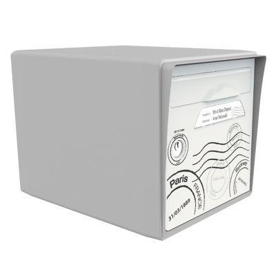 boite aux lettres 1 porte gris souris globe trotter. Black Bedroom Furniture Sets. Home Design Ideas