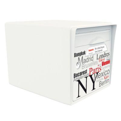 - Boite aux lettres 1 porte Blanc ivoire - Capitale du monde. - - Caractéristiques techniques de cette boîte aux lettres : - - Type : Structure de boîte aux lettres. - Nombre de porte acceptée : 1 fournie. - Matière : Résine. - Coloris de la structure : B