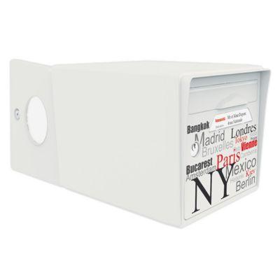Boite aux lettres 2 portes Blanc ivoire - Capitale du monde