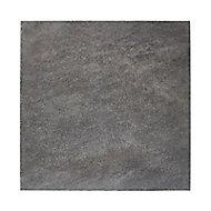 Carrelage sol extérieur noir 43 x 43 cm Colours Iskia