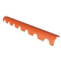 Closoir PVC faitage 1 m brun