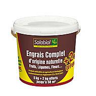 Engrais universel complet UABS Solabiol 7kg (5 + 2kg offerts)