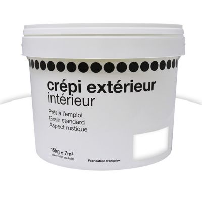 Peinture Crépi 1ER PRIX Blanc 15kg | Castorama.