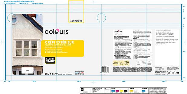 Peinture Crepi Exterieur Colours Ton Pierre 5kg Castorama