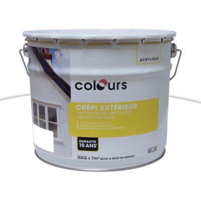 Peinture Crpi Extrieur Colours Blanc Kg  Castorama