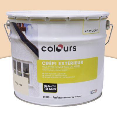 Peinture Crépi Colours Granit Rose 15Kg | Castorama