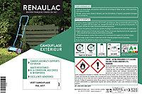 Peinture multi-supports en aérosol Renaulac Camouflage Extérieur vert 400ml