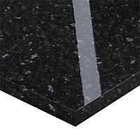Plan de travail snack stratifié noir brillant Everest 208 x 40 cm ép.38 mm (vendu à la pièce)