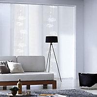 Panneau japonais Madeco Surro dévoré blanc 45 x 260 cm