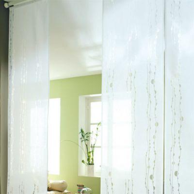 Panneau Japonais Madeco Vague Dévoré Blanc 45 X 260 Cm Castorama