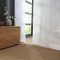 Panneau japonais Madeco géométrique blanc 45 x 260 cm
