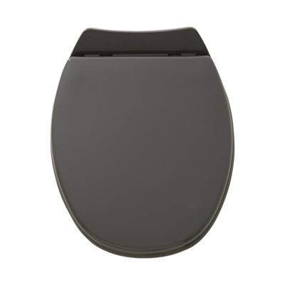 Abattant WC avec frein de chute gris ALLIBERT Serenity
