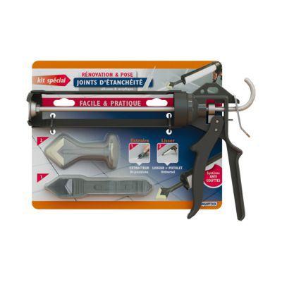kit joint silicone smartool avec pistolet extracteur et lisseur castorama. Black Bedroom Furniture Sets. Home Design Ideas
