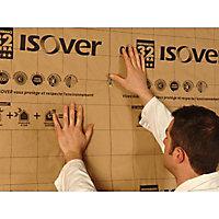 Panneau isolant laine de verre Isover GR32 Kraft - 0,6 x 1,35 m ép.100 mm R. 3,15m²K/W (vendu par lot de 8 panneaux)