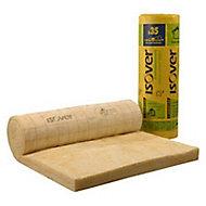 Rouleau laine de verre Isover Isoconfort 35 kraft - 1,2 x 3 m ép.200 mm (vendu au rouleau)