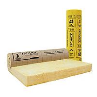 Rouleau isolant combles aménagés laine de verre kraft Isover - 2,6 x 1,2 m ép.240 mm R. 6,85 Km²/W (vendu au rouleau)