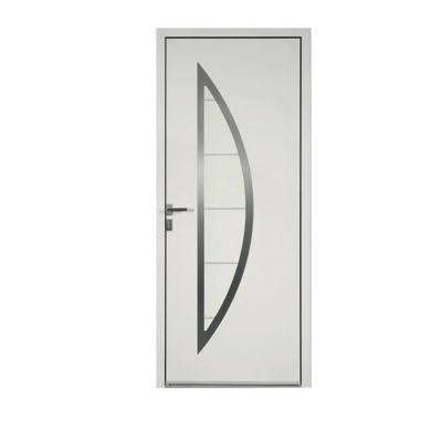Porte d'entrée aluminium Adora blanc 90 x h.215 cm poussant droit