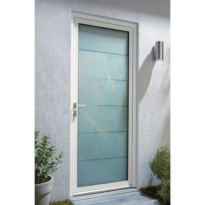 Porte d'entrée aluminium Alana blanc 90 x h.215 cm poussant droit