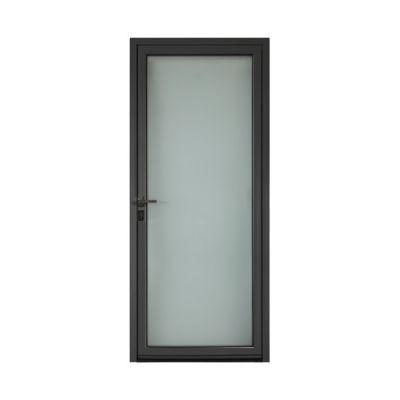 Porte d'entrée aluminium Adriana gris 90 x h.215 cm poussant droit
