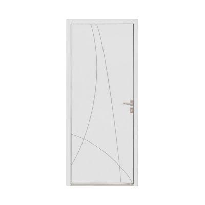 Porte d'entrée aluminium Alicia blanc 90 x h.215 cm poussant droit