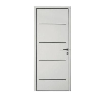 Porte d'entrée aluminium Adelina blanc 90 x h.215 cm poussant gauche