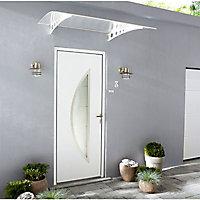 Porte d'entrée aluminium Adora blanc 80 x h.215 cm poussant droit