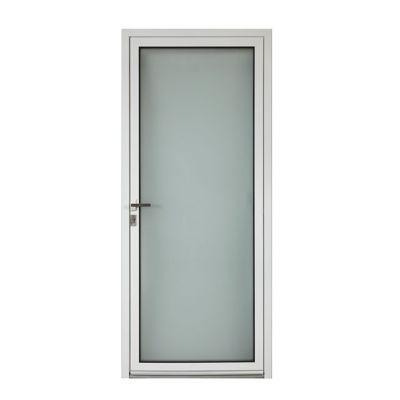 Porte d'entrée aluminium Adriana blanc 80 x h.215 cm poussant droit