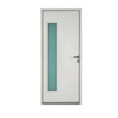 Porte d'entrée aluminium Angelina blanc 80 x h.215 cm poussant droit