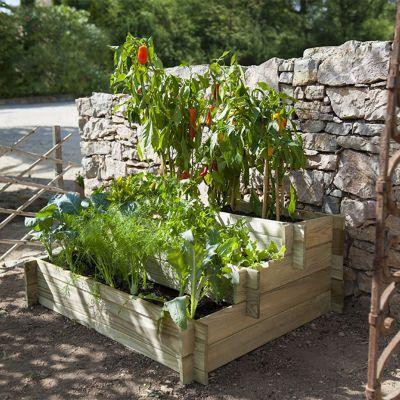 Serre pot de fleurs bac jardini re et carr potager castorama for Bac carre potager bois