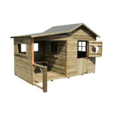maisonnette en bois cerland hacienda castorama. Black Bedroom Furniture Sets. Home Design Ideas