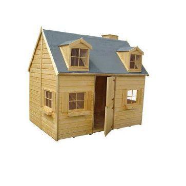Maisonnette en bois cerland rosalie castorama for Plan cabane d enfant