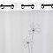 Voilage L'Envol Du Decor Flora blanc gris 140 x 260 cm