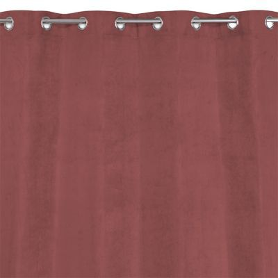 - Dimensions (cm) : 140 x 240 cm - Coloris : Rouge - Occultant : Oui - Thermique : Oui - Attaches : oeillets - Matière : 100% Polyester - Rideau occultant et thermique