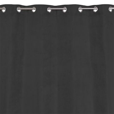 - Dimensions (cm) : 140 x 240 cm - Coloris : Noir - Occultant : Oui - Thermique : Oui - Attaches : oeillets - Matière : 100% Polyester - Rideau occultant et thermique