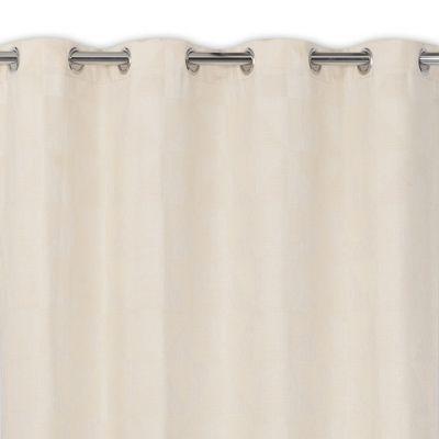 - Gamme : Tristan - Coloris : Beige - Dimensions (cm) : 140 x 240 cm - Matière : 100% Polyester - Attaches : oeillets -
