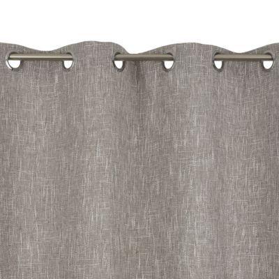 - Gamme : Bess - Coloris : Beige - Dimensions (cm) : 140 x 240 cm - Matière : 100% Polyester - Attaches : oeillets -