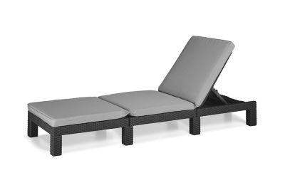 bain de soleil r sine allibert daytona graphite coussin. Black Bedroom Furniture Sets. Home Design Ideas