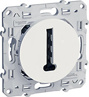 Prise téléphone Schneider electric Odace Blanc