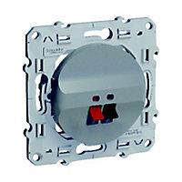 Prise haut-parleur Schneider electric Odace Aluminium
