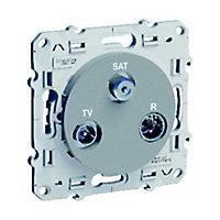 Prise TV Satellite Schneider electric Odace Aluminium
