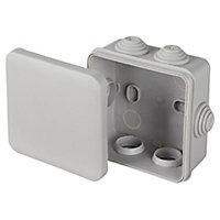 Boîte de dérivation carrée extérieure avec 7 passe-câbles et système de verrouillage Schneider Mureva 80x80x45mm