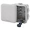 Boîte de dérivation carrée extérieure avec 7 passe-câbles et système de verrouillage Schneider Mureva 80x 80x 45mm, IP55, GRISE 5PCS