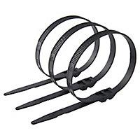 100 colliers de serrage en nylon Schneider electric 9 x 357 mm noir