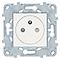 Mécanisme prise 2 pôles + terres affleurante Schneider Electric Unica Blanc
